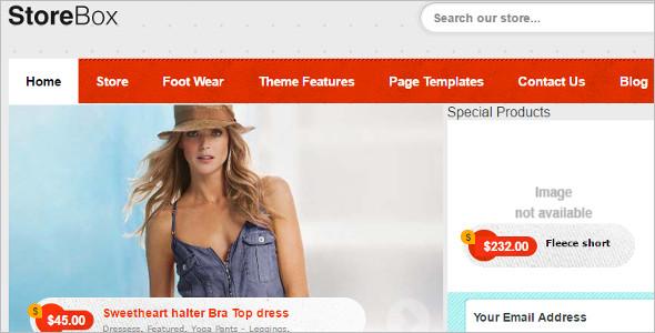 Retail Shopping WordPress Template