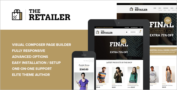 Retailer E-commerce WordPress Template