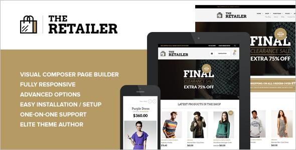 Retailer E-commerce WordPress Template