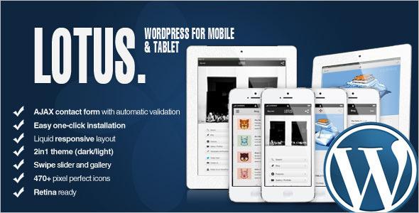 Retina Mobile Friendly WordPress Template