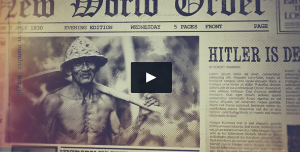 Retro Newspaper Openers Video Style Template