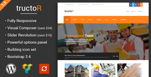 Roofing WordPress Themes