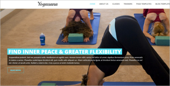 Sample Flexible Yoga Website Template