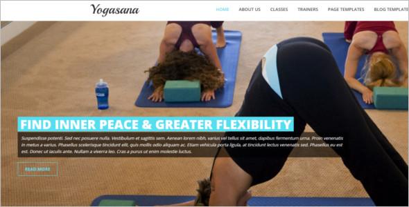 Sample Flexible Yoga Website Template