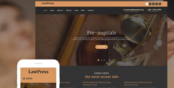 Sample Law Firm WordPress Templates