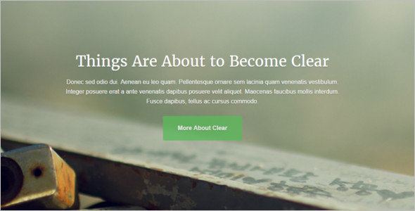 Sample Mobile Friendly WordPress Template