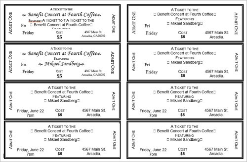 Doc644415 Free Ticket Templates for Microsoft Word Event – Word Event Ticket Template
