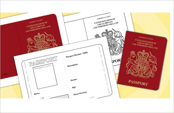 25+ Printable Free Passport Templates PSD, Illustrator Designs