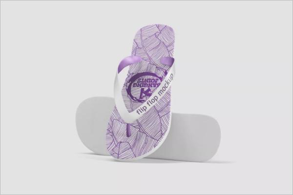 Sample Sandals Mockup Design