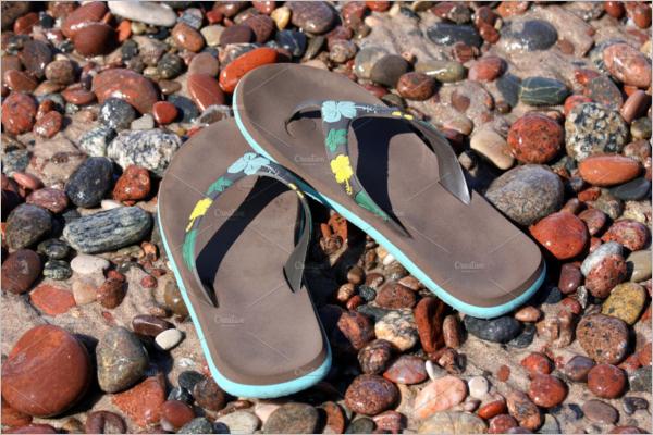 Sandals Pair Mockup Design