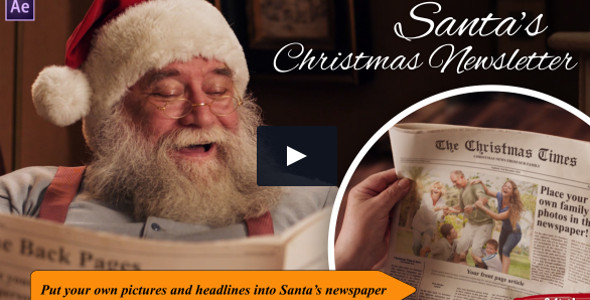 Santa's Christmas Newsletter Adobe After Effects Template