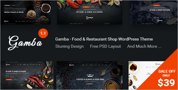 Sea Food WordPress Template Design