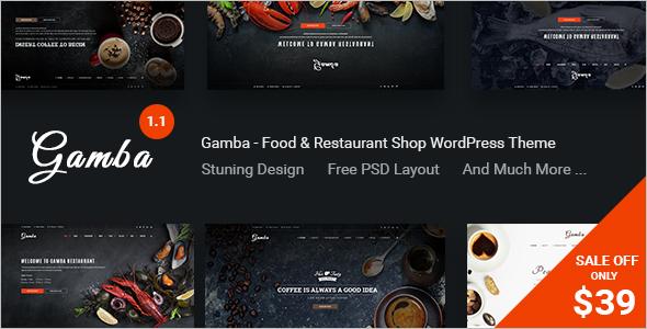 Sea Food WordPress Template Design