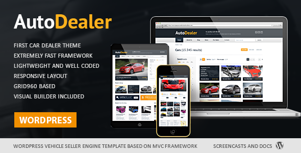 Selling Car Dealer WordPress Theme