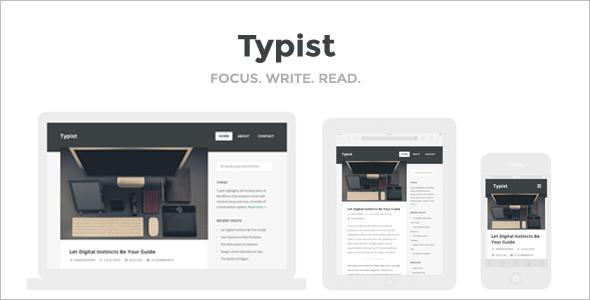 Serious Writers WordPress Template