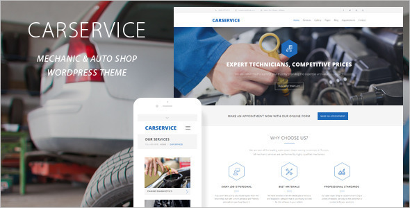 Service Car Mechanic WordPress Template