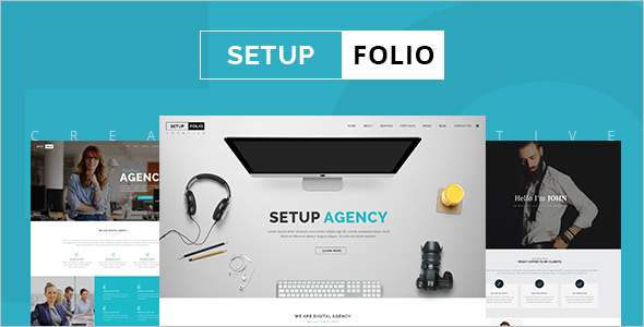 Setup Folio Single page WordPress Template
