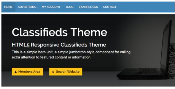 Simple Classifed WordPress Template