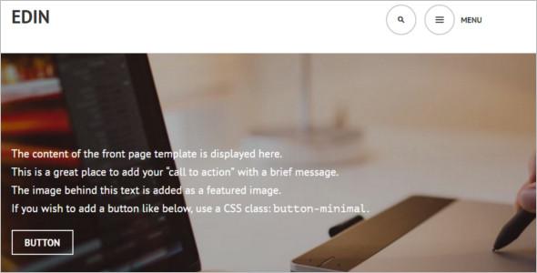 Simple Edwin New WordPress Template