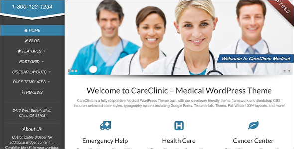 Simple Medical WordPress Templatee
