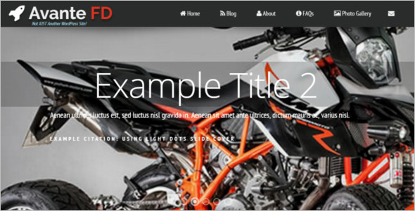 Simple Motor Cycle WordPress Template