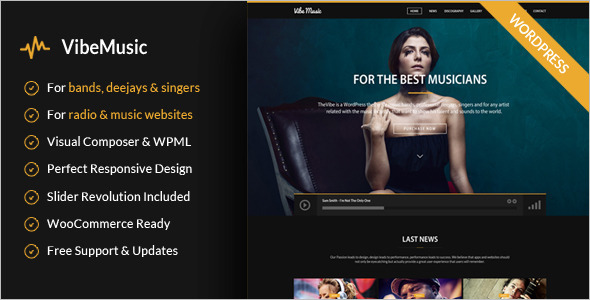 Simple Music WordPress Template