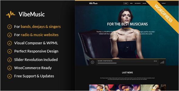Simple Music WordPress Template