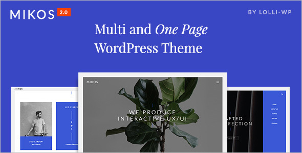 Simple One Page WordPress Template