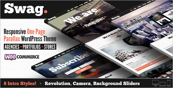 Simple OnePage Parallax WordPressTemplate