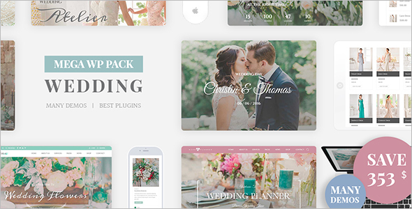 Simple Wedding WordPress Template