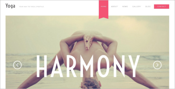 Simple Yoga Website Template