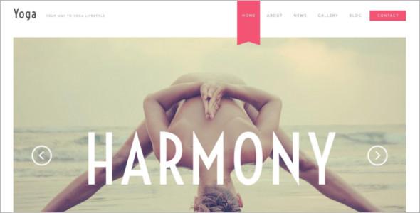 Simple Yoga Website Template