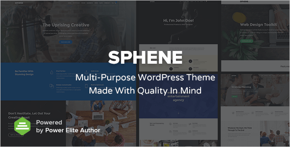Single Page Business WordPress Template