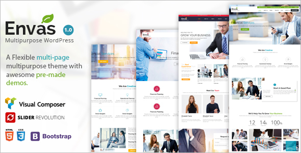 Single Page Company WordPress Template