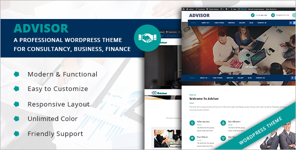 Single Page Corporate WordPress Template