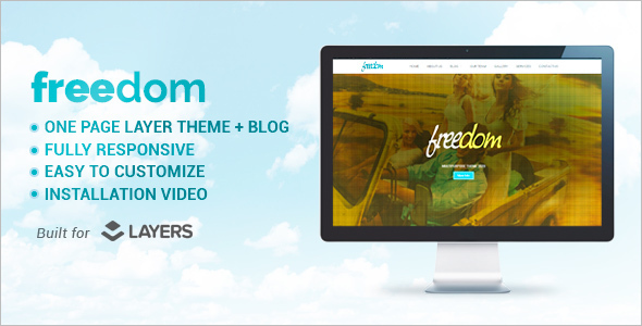 Single Page Fredom WordPress Theme