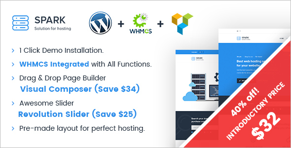 Single Page Hosting WordPress Template