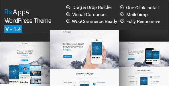 Single Page Landing WordPress Template