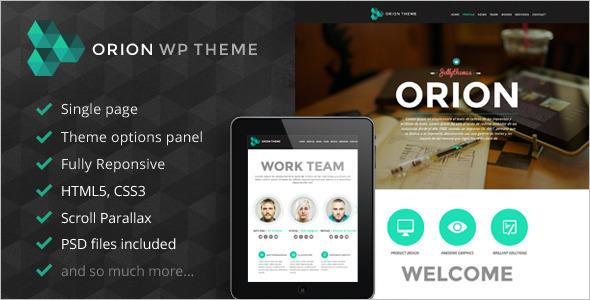 Single Page Parallax WordPress Template