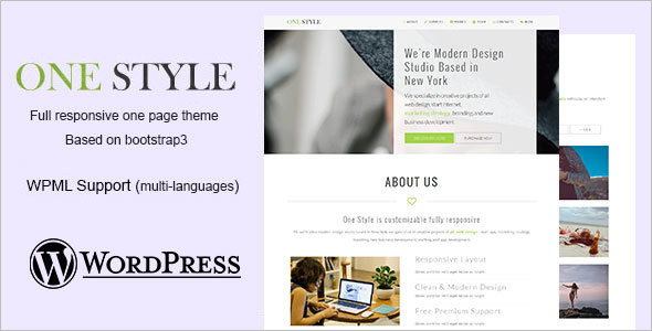 Single Page Personal WordPress Template