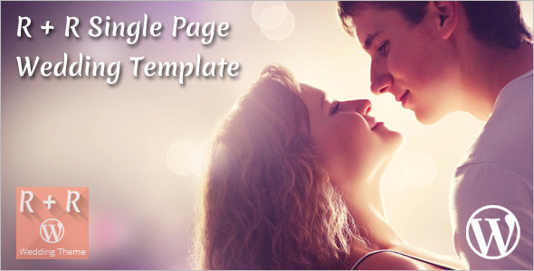 Single Page Wedding WordPress Template