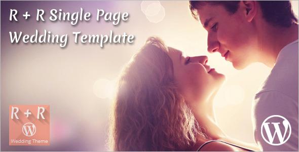 Single Page Wedding WordPress Template