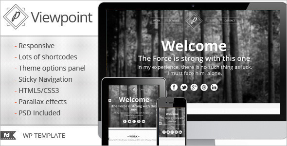 Single Page WordPress Template