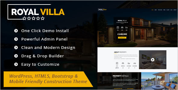 Single Property WordPress Template