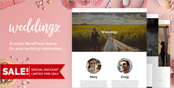 Sinsle Page Weeding WordPress Template