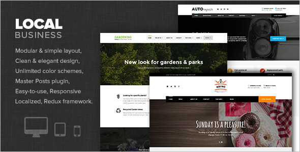Small Local Business WordPress Template