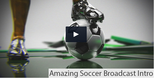 Soccer Broadcast Intro / Promo video template