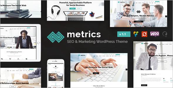 Social Media Marketing WordPress Template