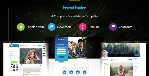 15 social media website themes free premium templates for Social networking sites templates php