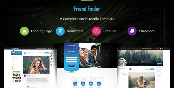 Social Networking Friend Website Template